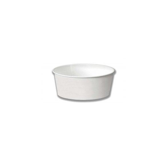 Papír salátás tál fehér BIO 800ml 50db/cs 500db/krt