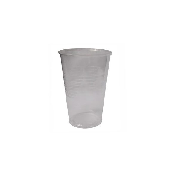 Műanyag pohár víztiszta 3dl (átm.: 78mm) PP 50db/cs 1250/Krt