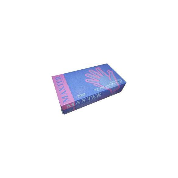 Nitril kesztyű kék púder mentes M (100 db/cs)