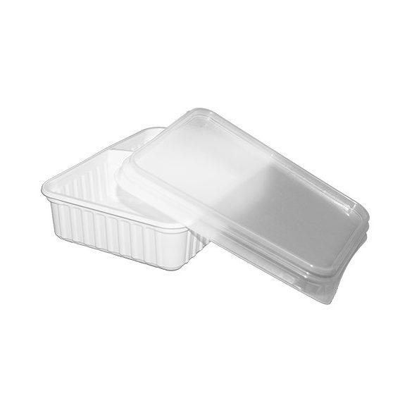 Műanyag szögletes osztott alj 630ml (6/4 osztással) mikrózható 50db/cs 400db/krt