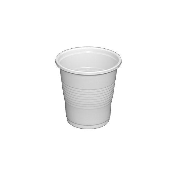 Műanyag pohár fehér 1dl (vékony) 100db/cs 5000db/krt