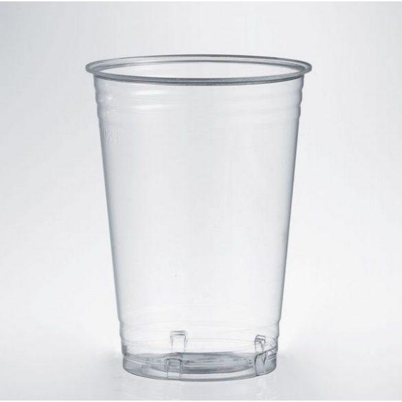 PLA lebomló víztiszta pohár  3dl 50db/cs 20cs/krt