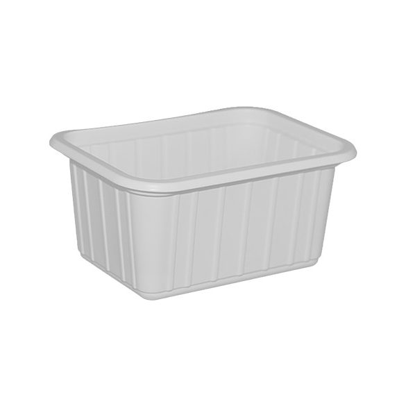 Műanyag szögletes fehér alj 425ml 50db/cs 800db/krt