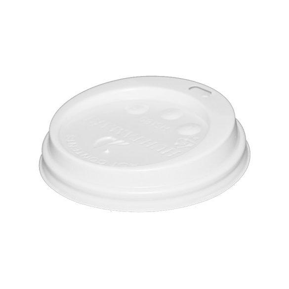 Papír pohár tető ivólyukkal (80mm) 100db/cs 1000db/krt