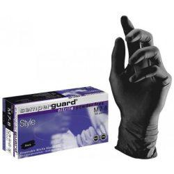 Nitril kesztyű fekete púder mentes XL (100 db/cs)