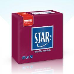Szalvéta Fato Star 38x38cm bordó 40db/cs 30cs/#