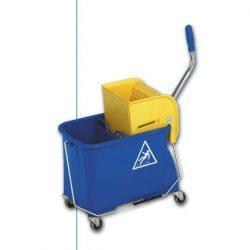 Vödör kerekes mop préssel kék