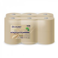 Lucart toalettpapír, 2rtg., natúr, 19cm 900lap/tek 12tek/cs (892288 adagolóhoz)