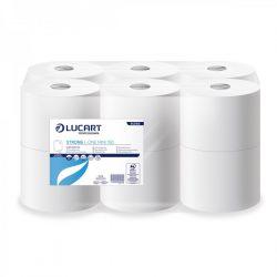 Lucart toalettpapír, 2rtg., cellulóz, 19cm, 900lap/tek 12tek/cs