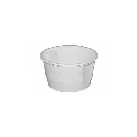 Műanyag gulyás tál fehér/natúr 0,75L PP (mikrózható) 50db/cs 550db/krt