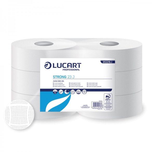 Lucart toalettpapír, 2rtg., cellulóz, 23cm, 165m, 6tek/cs