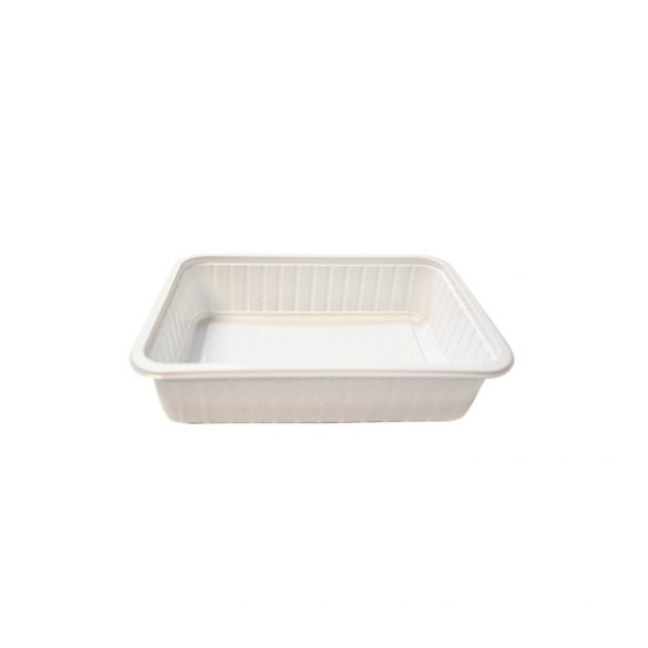 Műanyag szögletes alj 500ml PP (TCS) fehér könnyített 50db/cs 400db/krt
