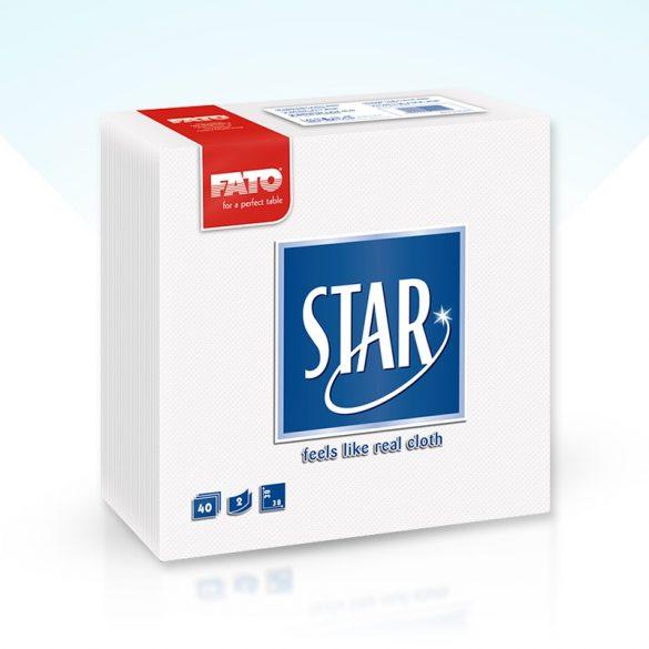 Szalvéta Fato Star 38x38cm fehér 40db/cs 30cs/#