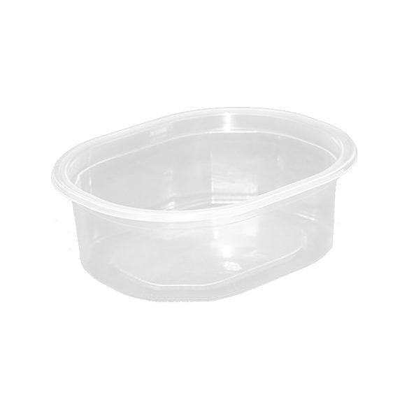 Műanyag ovális svédtál 375ml (mikrózható) 50db/cs 900db/krt