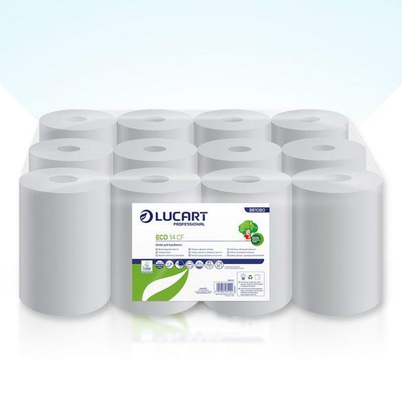 Lucart kéztörlő belső letekeredésű, 2rtg., fehér, 14cm 12tek/cs