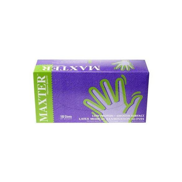 Latex púderezett gumikesztyű Maxter S-es 100db/cs