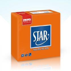 Szalvéta Fato Star 38x38cm narancs 40db/cs 30cs/#