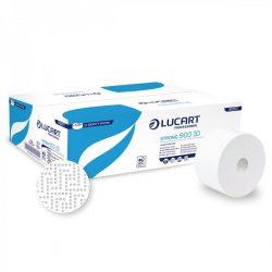 Lucart toalettpapír, 2rtg., cellulóz, 19cm, 202m 12tek/krt