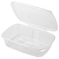 Műanyag összecsukható doboz 500ml (PET) 129,5x122,5x56,5mm 100db/cs 800db/krt