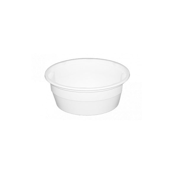 Műanyag gulyás tál fehér/natúr 0,5L PP (mikrózható) 50db/cs 550db/krt