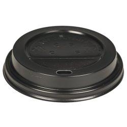Műa. ivólyukas tető 360/480ml-es papír pohárra Fekete (AB) 100db/cs 1000db/kr