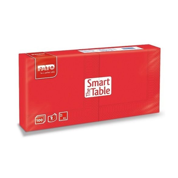Szalvéta Fato 2rét. 25x25cm, 1/4 piros, 100db/cs, 38cs/karton