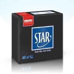Szalvéta Fato Star 38x38cm fekete 40db/cs 30cs/#