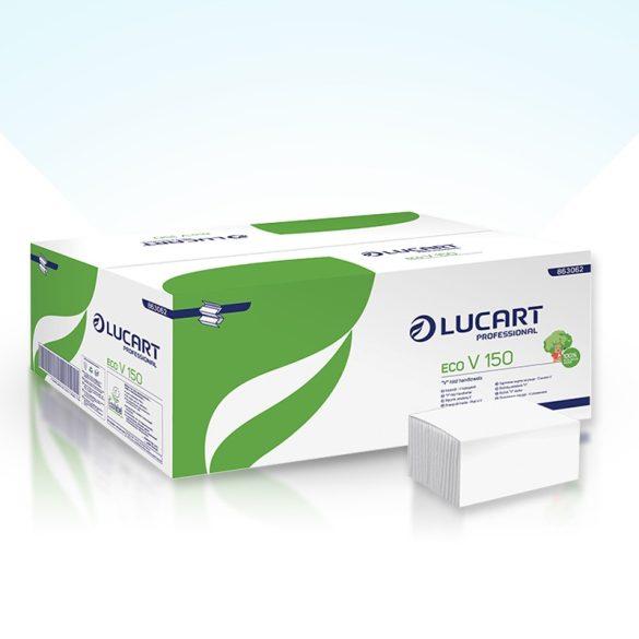 Lucart kéztörlő V hajtott, 2 rtg., fehér, 20x150lap/krt