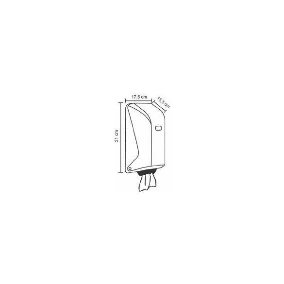Vialli Mini belsőmagos tekercses kéztörlő adagoló (SG1)