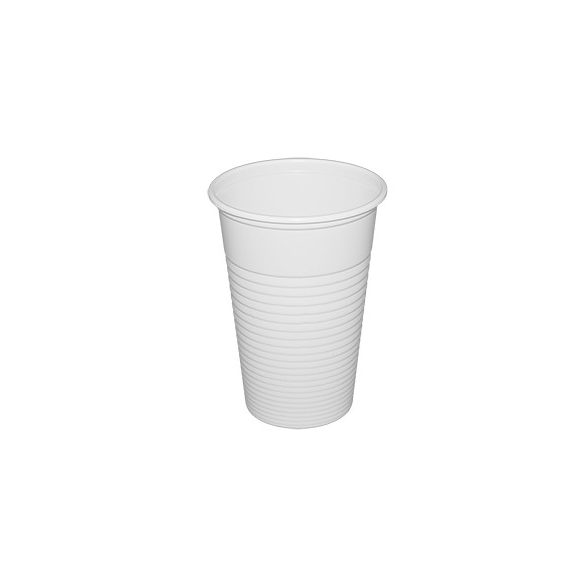 Műanyag pohár fehér 220ml PP 100db/cs 3000db/krt