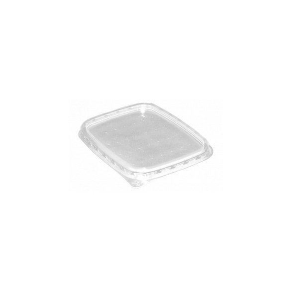 Műanyag szögletes tető 500-1200ml-ig PP (TCS) könnyített 50db/cs 400db/krt