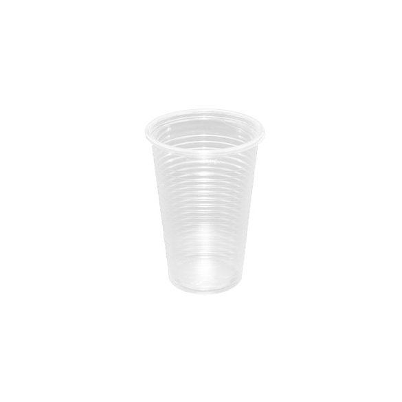 Műanyag pohár víztiszta 2dl PP 100db/cs 3000db/krt