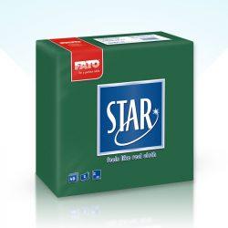 Szalvéta Fato Star 38x38cm erdő zöld 40db/cs 30cs/#
