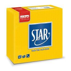 Szalvéta Fato Star 38x38cm napsárga 40db/cs 30cs/#