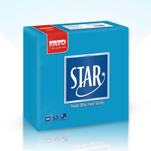 Szalvéta Fato Star 38x38cm türkiz 40db/cs 30cs/#