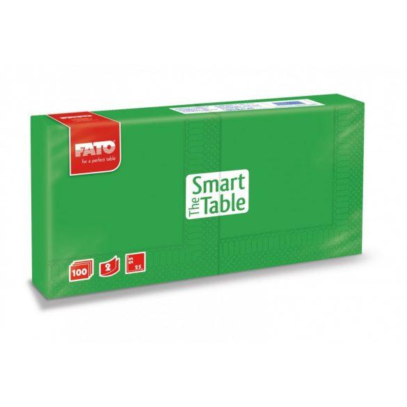 Szalvéta Fato 2rét. 25x25cm 1/4 emerald 100db/cs 38cs/krt