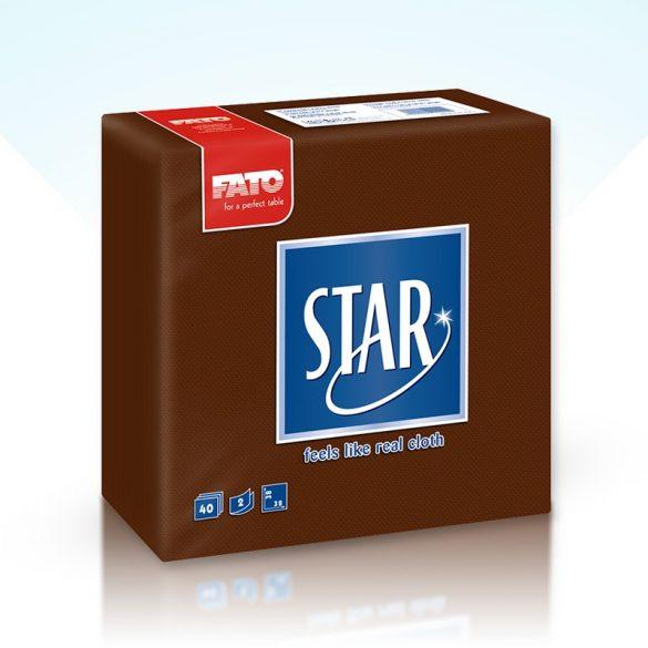 Szalvéta Fato Star 38x38cm barna 40db/cs 30cs/#