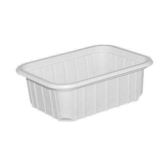 Műanyag szögletes fehér alj 270ml 50db/cs 800db/krt