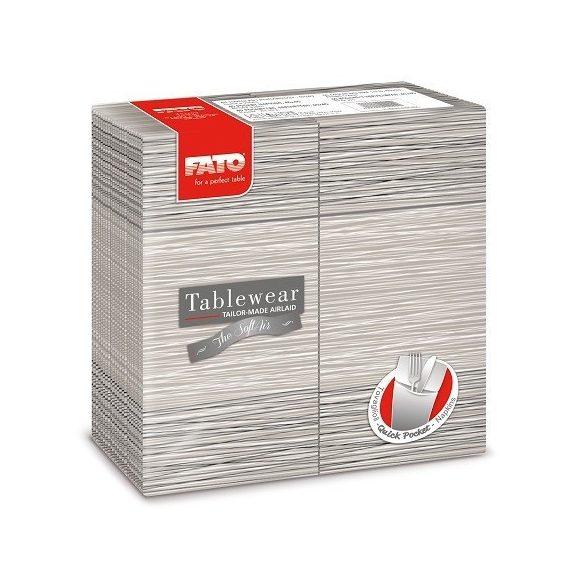 Szalvéta Fato Airlaid quick packet szürke 40x40