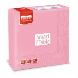 Szalvéta Fato 2rét. 33x33cm 1/4 pink 50db/cs 24cs/#